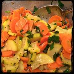 #homemade sautéed #zucchini #carrots #garlic #CucinaDelloZio - toss with parsley