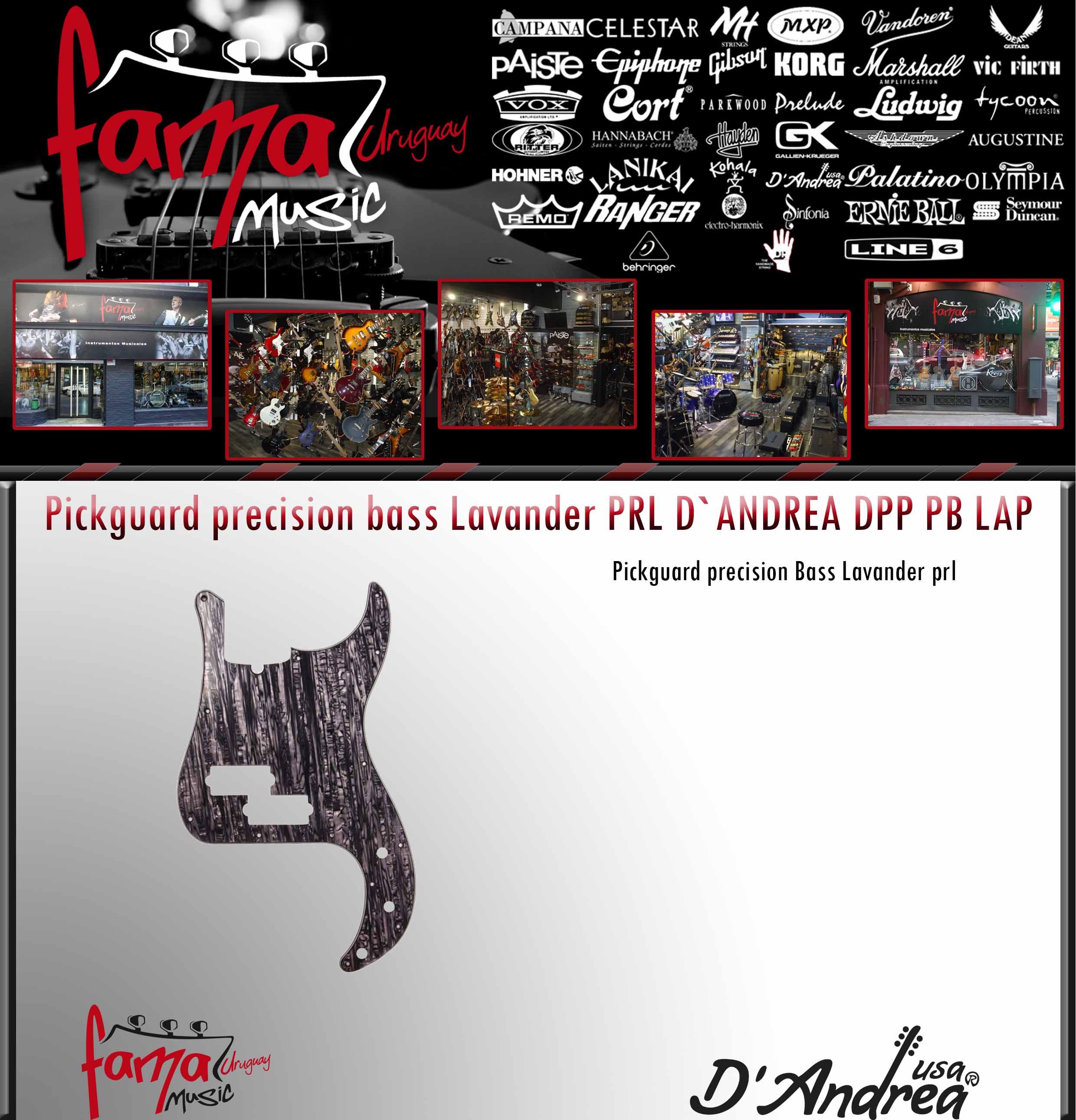 Pickguard precision bass Lavander PRL D`ANDREA DPP PB LAP