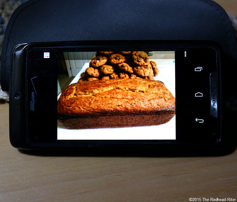 cell phone chocolate chip cookie grain free bread Modern Technology Connects Across The Miles 2