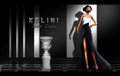 K E L I N I . NEW  Elegant Elea  Mesh Dress