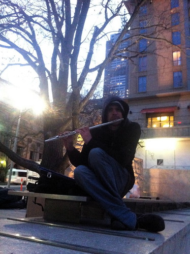 OO Tuesday #6: Chris playing the flute at dawn
