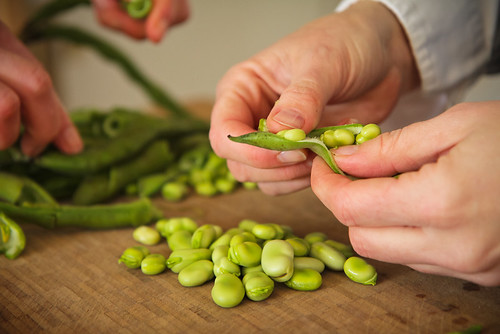 Shelling Broad Beans