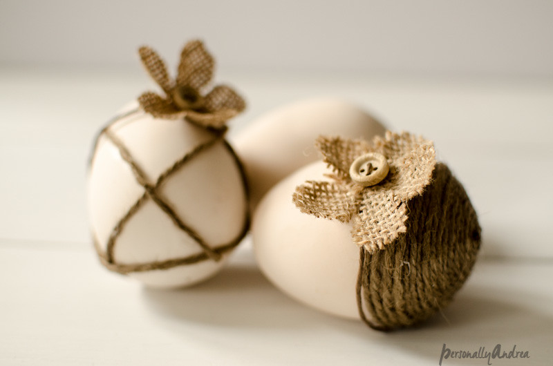 Shabby Chic Easter Eggs from a Dollar Store Craft Kit