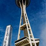 Image de Space Needle près de City of Seattle. seattle sun clouds washington spaceneedle