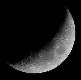 Waxing Crescent, 31% of the Moon is Illuminated taken with a Canon SX50 HS on April 23, 2015 IMG_2879