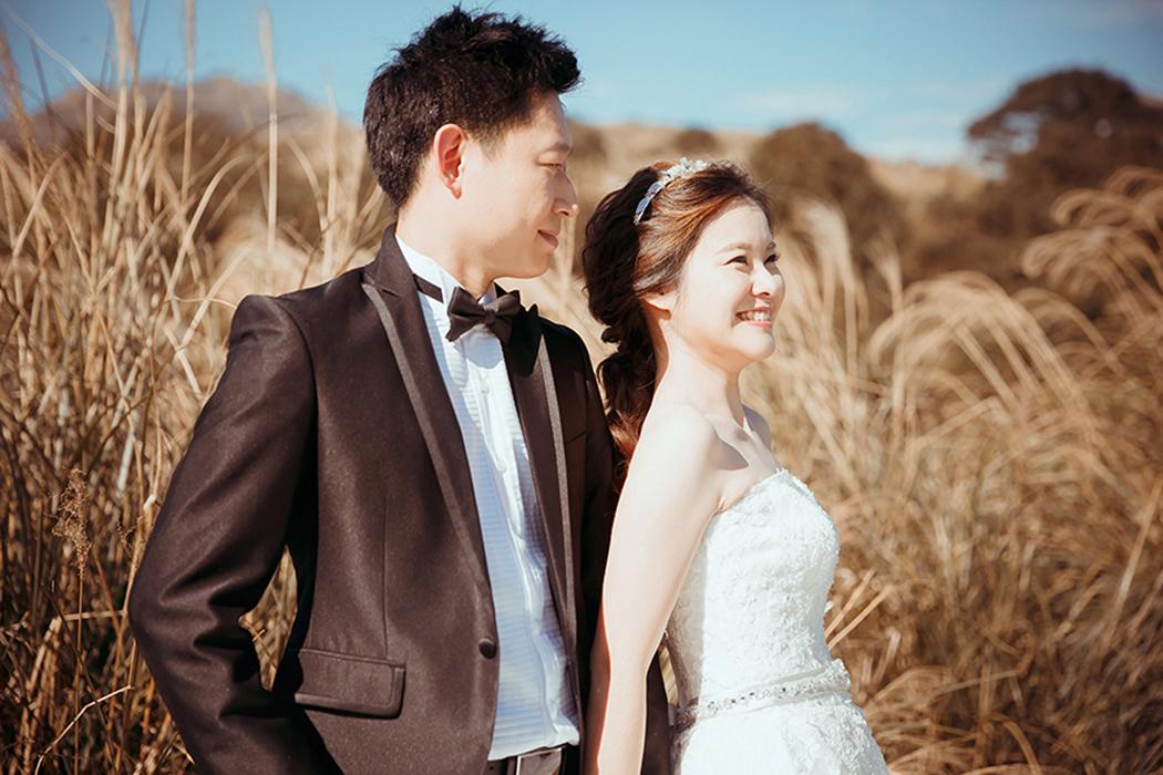 愛瑞思,Ariesy,愛瑞思造型團隊,自助婚紗,Lion,低馬尾,韓風造型,復古風,陽明山芒草,迪化街孔雀咖啡