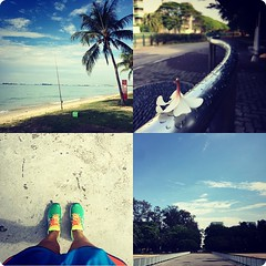 Perfect weather for a #sunday #run by the beach. #c25k #Singapore What are you up to?