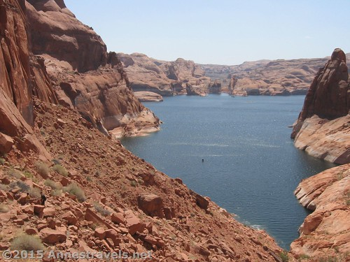 About half way down Hole in the Rock, Glen Canyon National Recreation Area, Utah