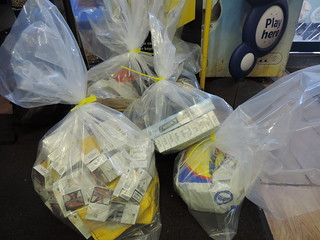 Seized illegal tobacco