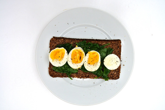 Eggs And Spinach On Rye
