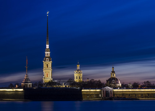 city longexposure sky night stpetersburg cityscape nightscape russia nightsky saintpetersburg fortress darkblue neva peterandpaul crepuscolo whitenight петербург крепость остров петропавловская jänissaari lovelycity заячий