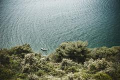 Boot vor der Küste
