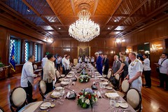 Philippines President Rodrigo Duterte asks U.S. Secretary of State John Kerry to sit down on July 27, 2016, in the Malacañang Palace in Manila, Philippines, before the two held a working lunch. [State Department Photo/Public Domain]