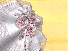 NSP Deco Rose Fascinator - Pink_002