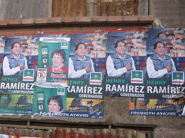Political Campaign Posters in Oruro