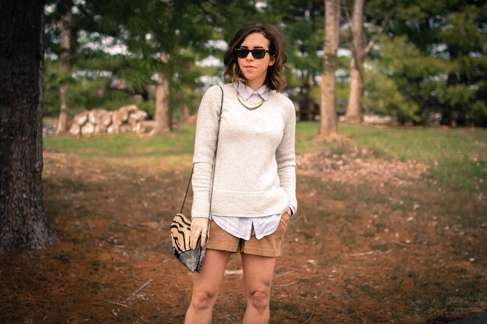 aviza style. a viza style. andrea viza. fashion blogger. dc blogger. spring style. spring trend. suede. spring layers. suede shorts. ootd. outfit. 1