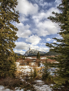 Mt Rundle from the Vermillion Lakes