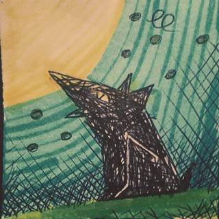 #moon #dog #illustration #sky #drawing #skatch                                 Looking to the moon