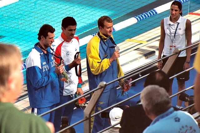 Lorenzo Vismara, Alexander Popov y Stefan Nystrand