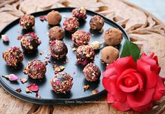 tartufi al cioccolato e rose