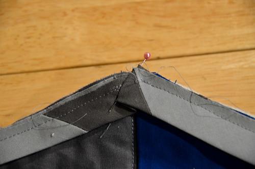 Binding outside angles