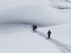 Nur wir und der Schnee