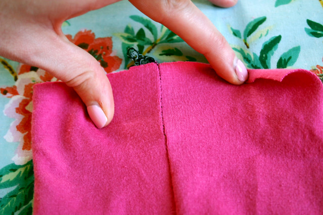 serger stitch seam stretched