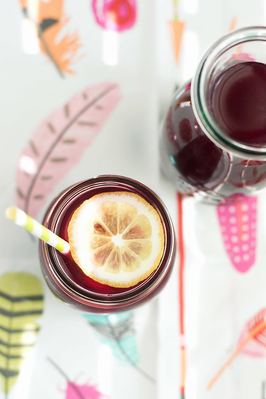 Lemon Blueberry Sweet Tea