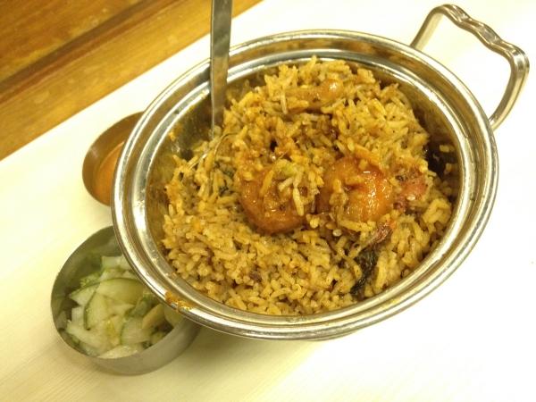 Indian-Leaf-Dining-Restaurant-Prawn-Briyani-Rice