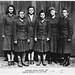 Belsen camp guards (L-R) Charlotte Klein, Lisbeth Fritzner, Hilde Lisiewitz, Herta Ehlert, Rosina Schieber, Elisabeth Volkenratrh by The National Archives UK