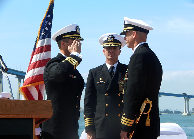 USS Wayne E Meyer Change Of Command Ceremony