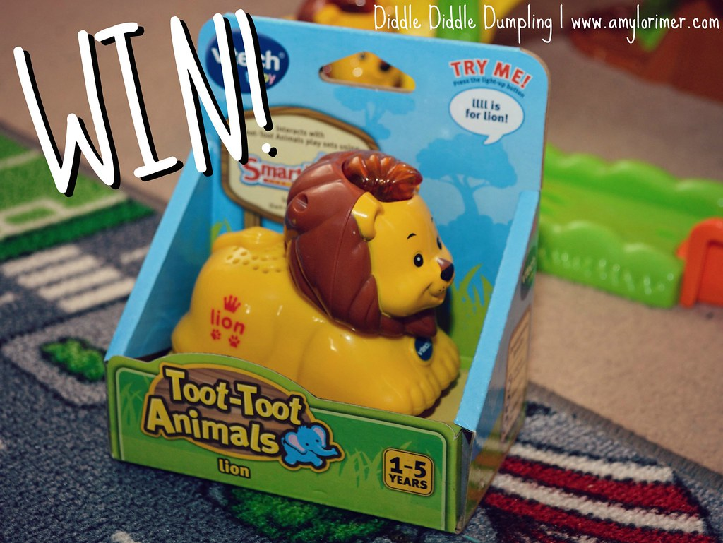 Click here to WIN a Vtech Toot-toot Animal with Diddle Diddle Dumpling.