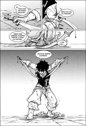comic, dos espadas, tebeo