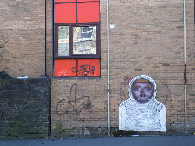 Corpse paste up in Cardiff