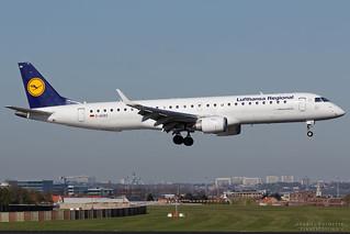 D-AEBO, Lufthansa Regional Embraer EMB-190, BRU