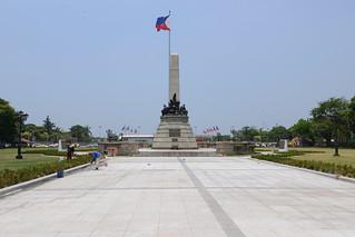 Image of  Jose Rizal  near  City of Manila.