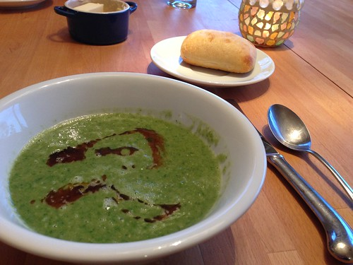 spinach soup with chickpeas