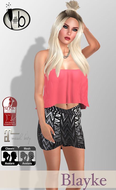 #bubbles Blayke Sheer Top + Print Skirt