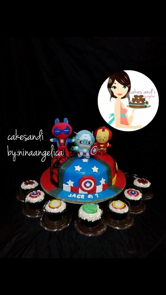 Avengers Themed Cake by Niña Angelica Llaneta of Cakes and i