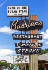 Bastien's Restaurant Sign