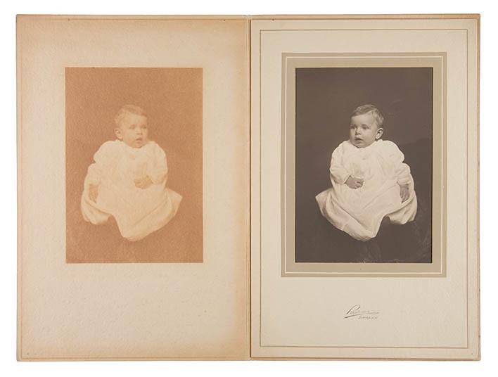 Platinum Print - Warm, Studio Portrait