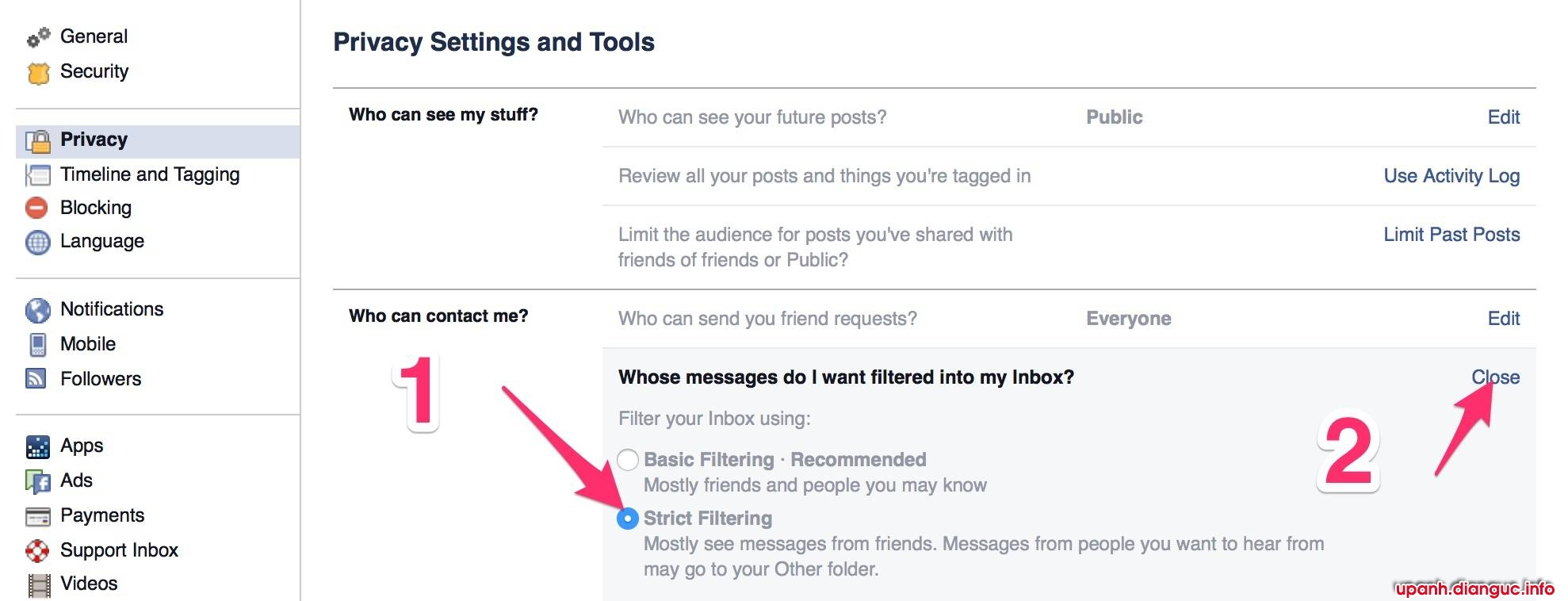 Cách chặn tin nhắn quảng cáo từ Group lạ trên Facebook