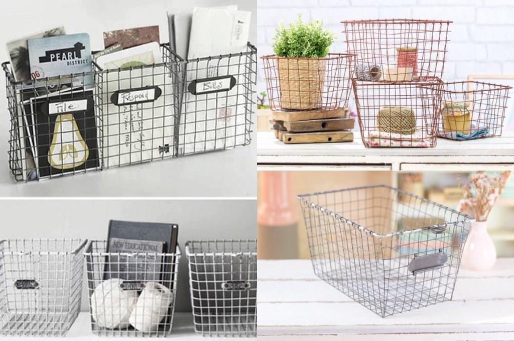 el blog de anita decoraci n con cestas met licas