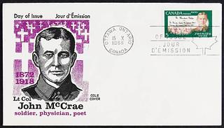 Lieutenant-Colonel John McCrae—5 cent stamp /  Le lieutenant colonel John McCrae sur un timbre de cinq sous