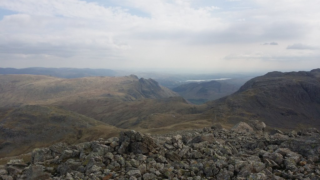 Towards Langdale from Great End #sh