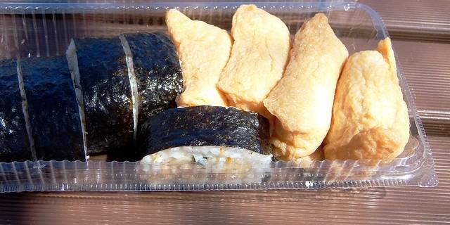 #9711 lunch: inarizushi and makizushi