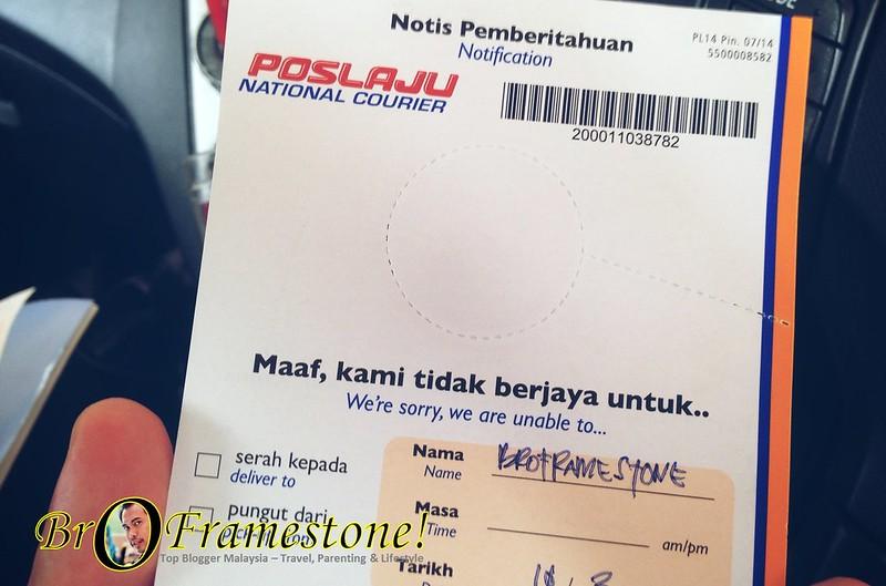 Surat Jemputan Pos Laju Rawang