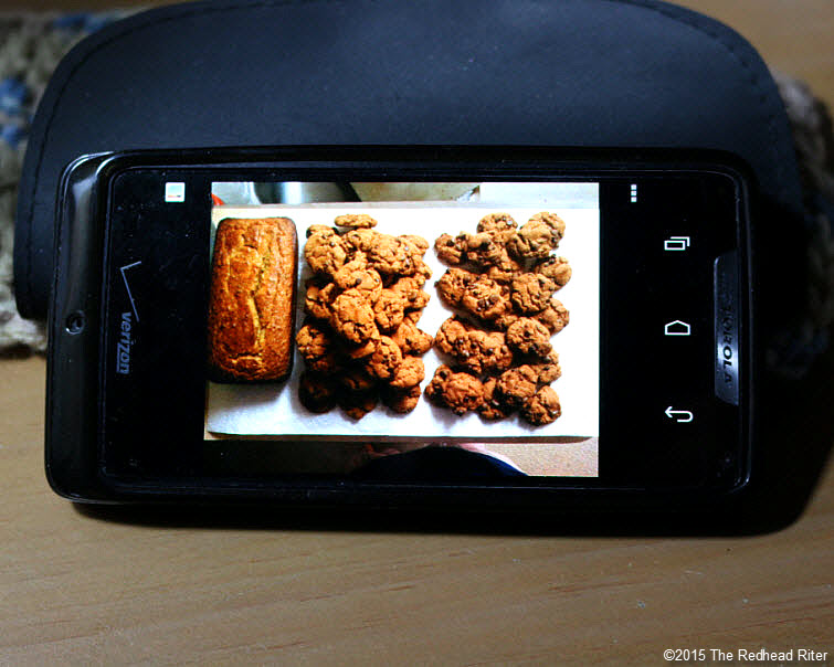 cell phone chocolate chip cookie grain free bread Modern Technology Connects Across The Miles
