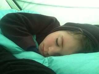Sleepy morning kiddo.