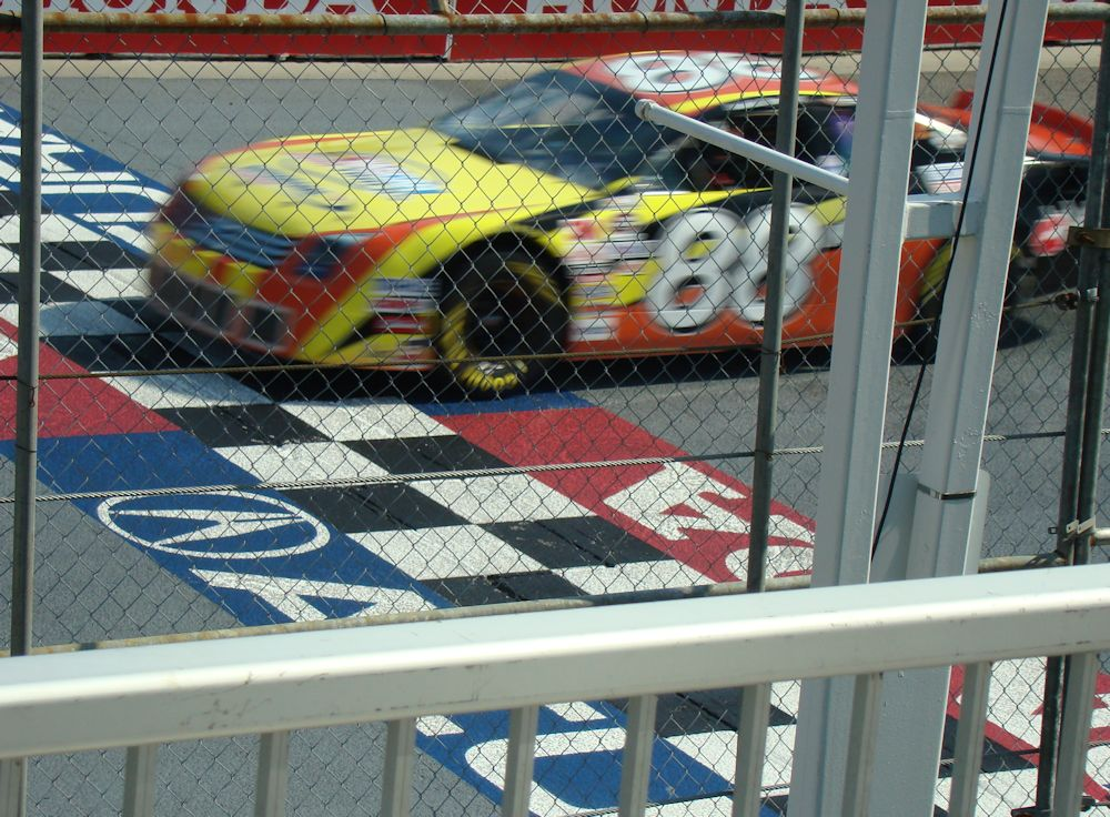 NASCAR Canadian Tire Series Stock Car Crossing Start-Finish Line